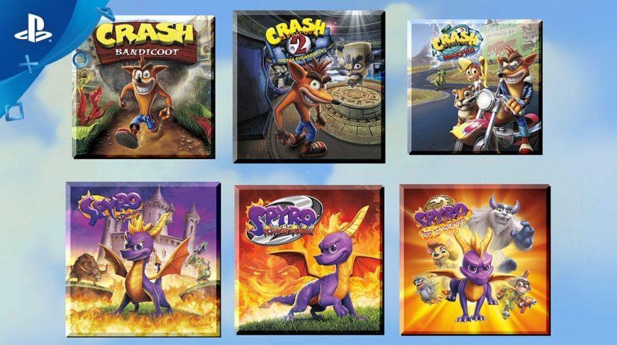 Diversão em dobro! Sony lança bundle de Crash e Spyro; confira