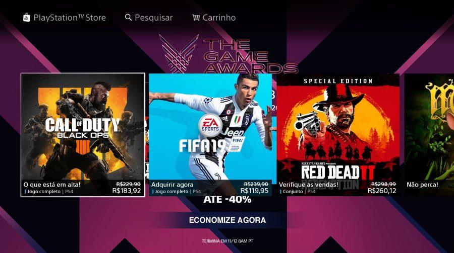 Sony lança promoção The Game Awards na PSN; veja jogos e preços