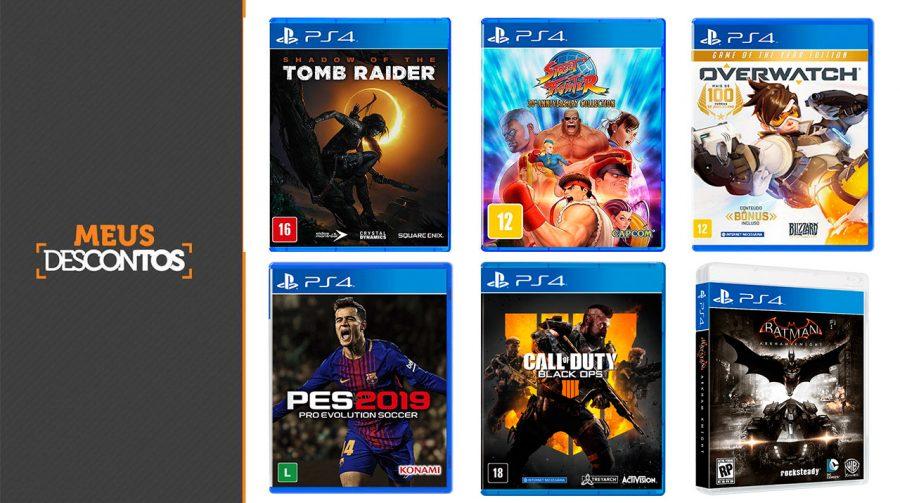 Economize! Jogos de PS4 começando em R$ 20; E ainda tem cupom!
