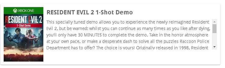 [Rumor] Resident Evil 2 terá DEMO '1-shot' em janeiro 1
