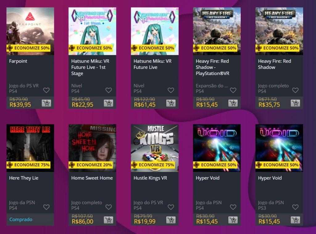 Estes preços ficaram online na loja digital da Sony até 05 de fevereiro.  Aproveite ainda para conferir outra ação de descontos da empresa clicando  aqui. 47cc296c0d3
