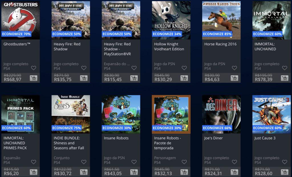 """Sony anuncia """"Promoção Flash"""" de Janeiro de 2019; veja jogos e preços 13"""