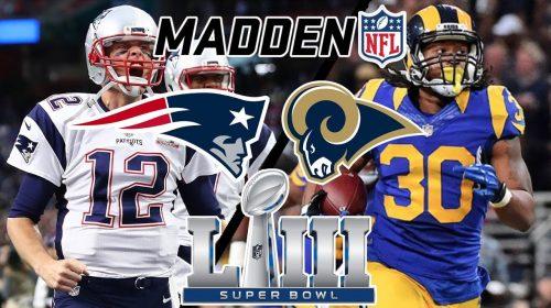 Simulação oficial do Super Bowl em Madden 19 prevê Rams campeão