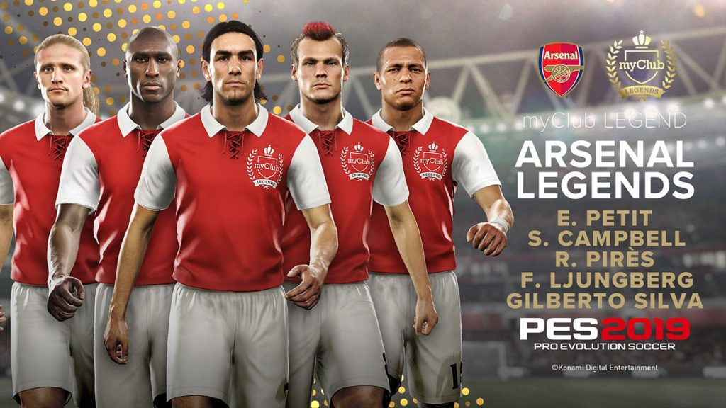Lendas do Arsenal, Milan e Totti chegam ao MyClub do PES 2019 3