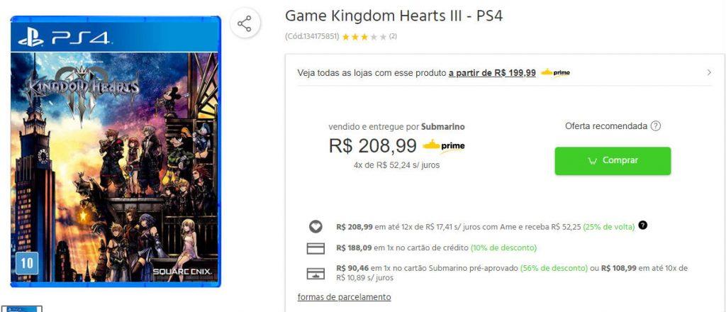Submarino oferece Resident Evil 2 com 50% de descontos no cartão da loja! 2