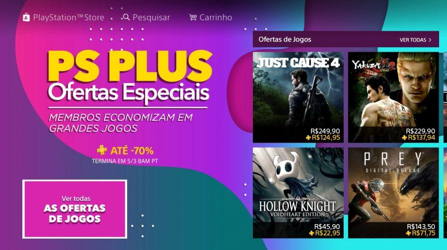 Sony oferece descontos de 70% para membros PS Plus em promoção; veja