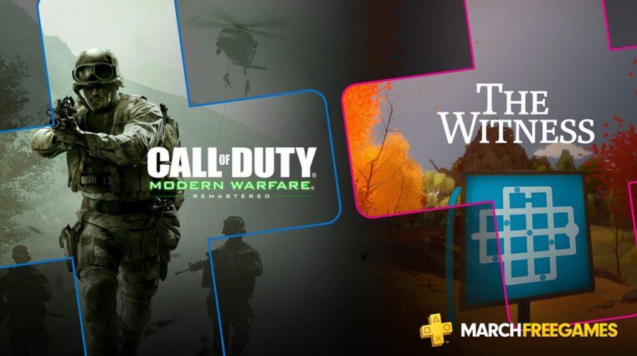 PS Plus de março virá com Call of Duty: Modern Warfare Remastered e The Witness