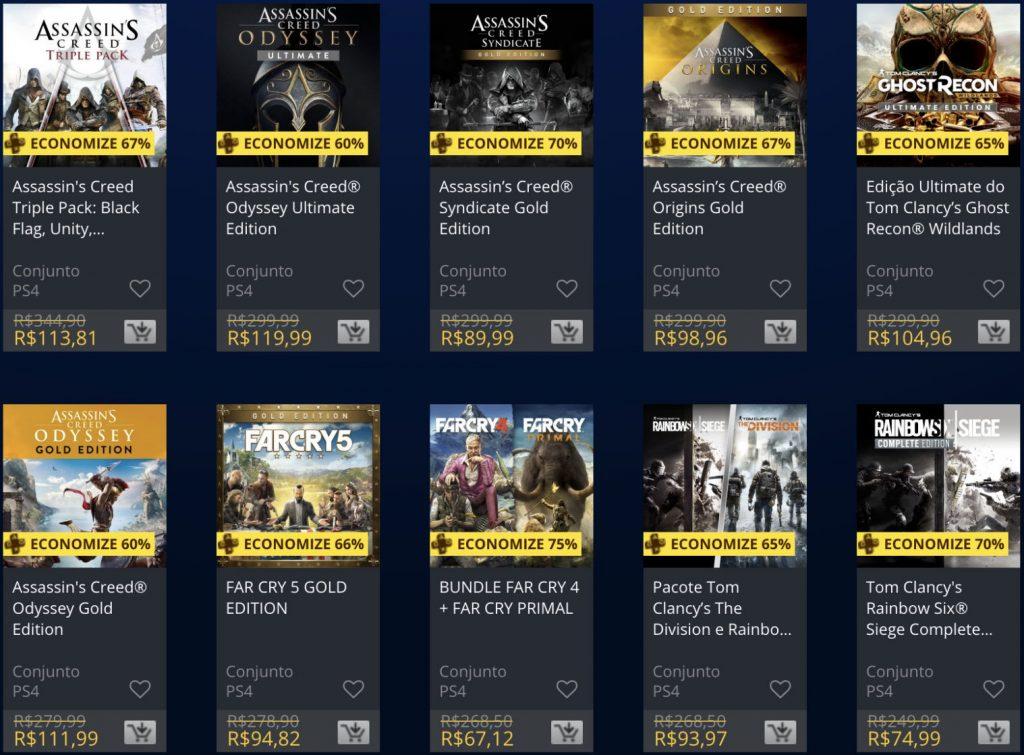 Sony e Ubisoft lançam promoção de jogos na PSN; confira 1
