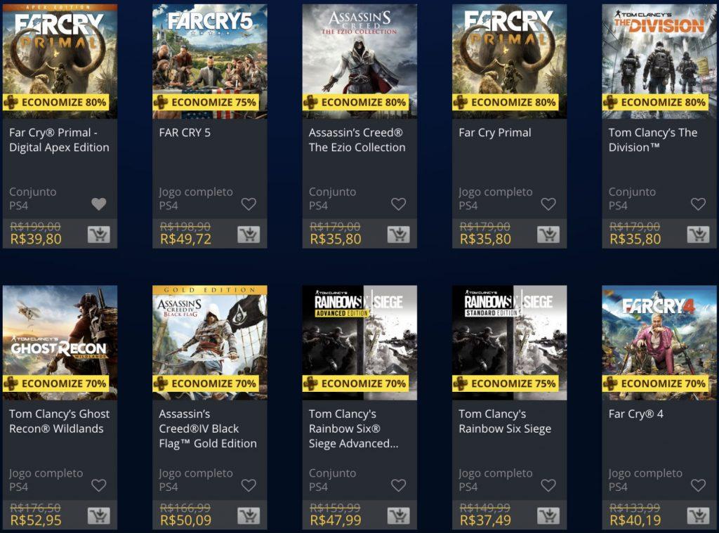 Sony e Ubisoft lançam promoção de jogos na PSN; confira 3
