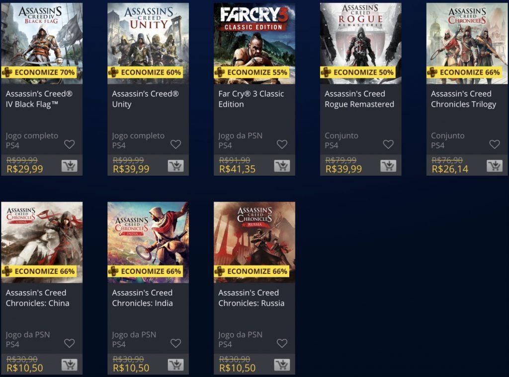Sony e Ubisoft lançam promoção de jogos na PSN; confira 4