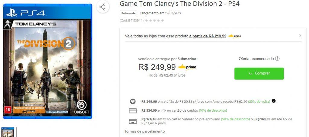 Submarino oferece Resident Evil 2 com 50% de descontos no cartão da loja! 6