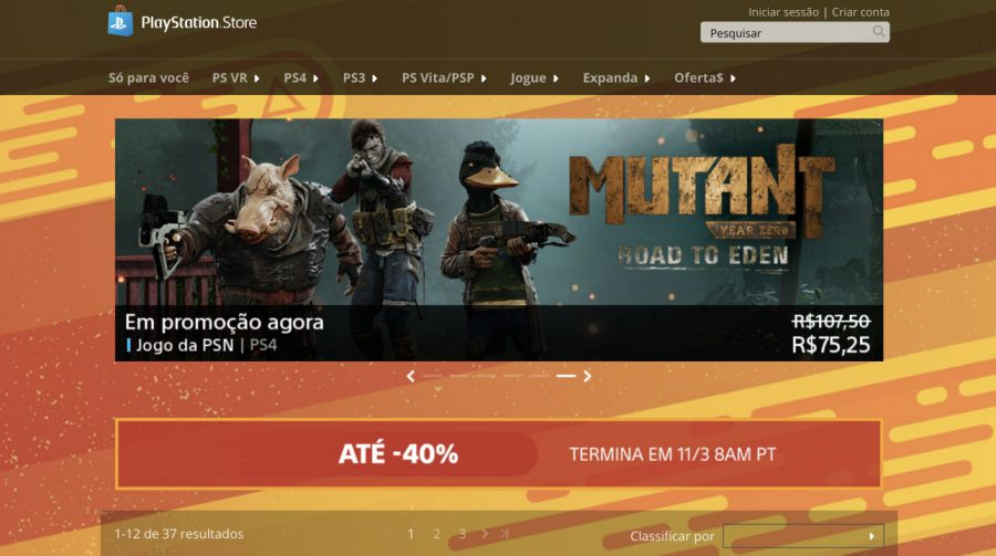 Sony lança Promoção Flash de março na PSN; Até 40% de descontos!