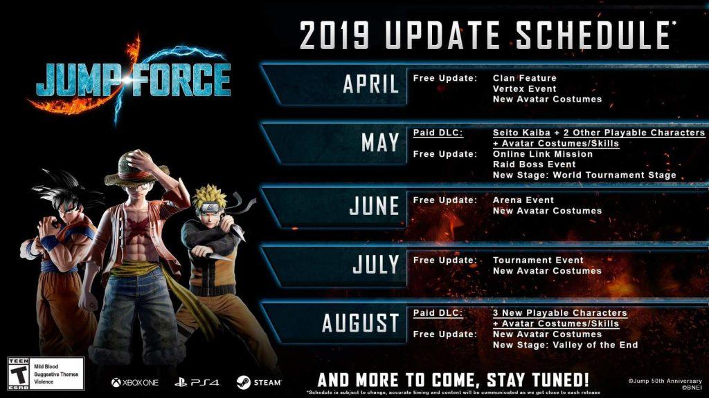 Jump Force: jogo vai receber expansões até agosto; confira cronograma 1