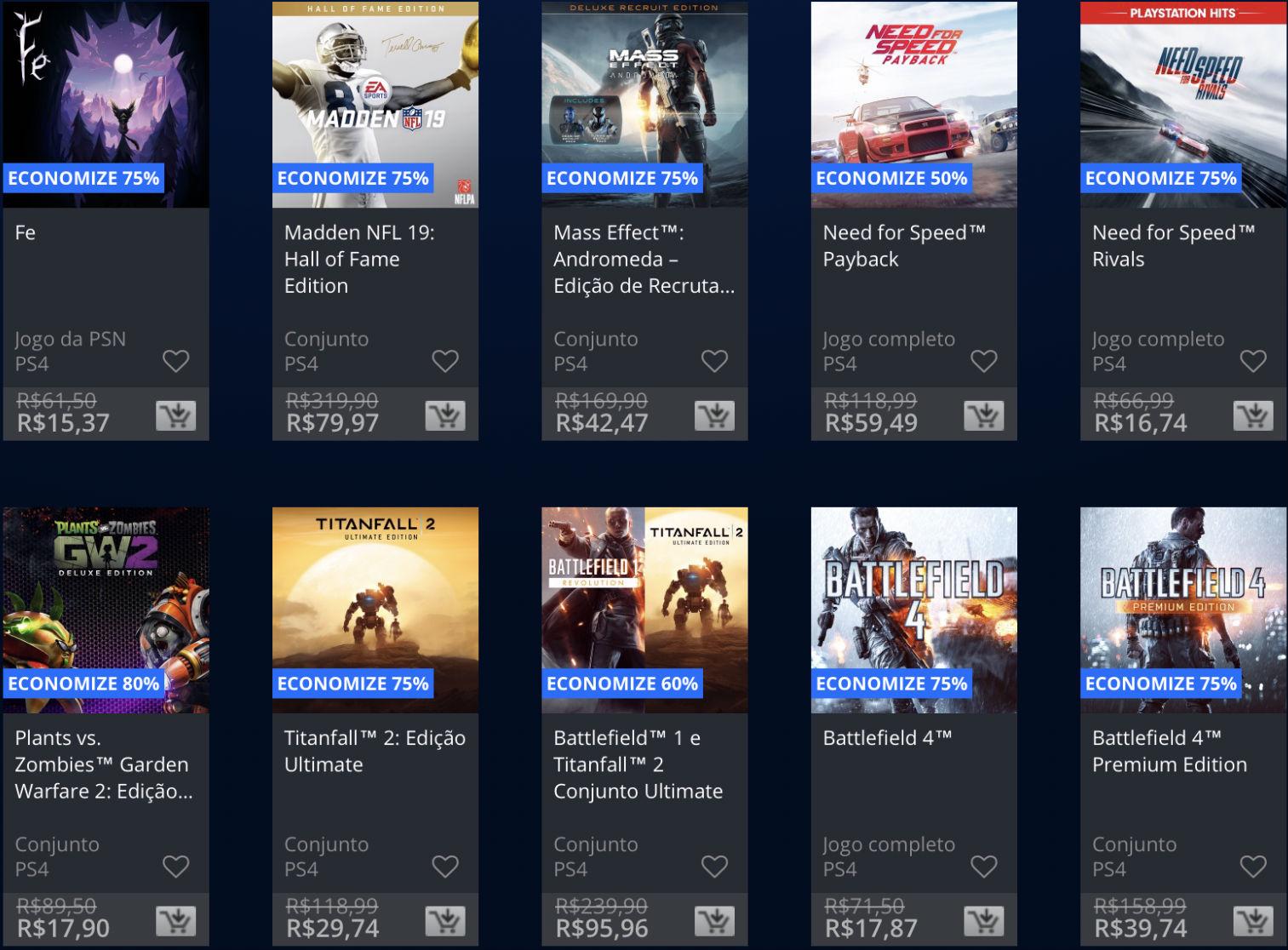 Jogos da EA estão em promoção na PSN; Descontos chegam até 80%! 2