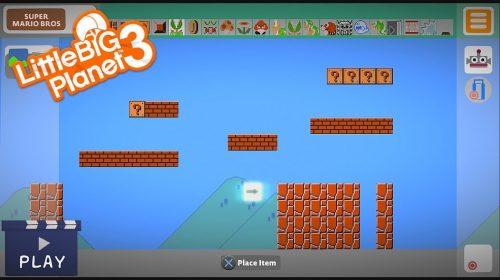 Jogador recria Super Mario Maker em LittleBigPlanet 3