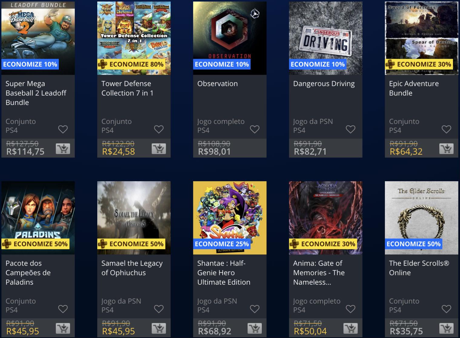 Promoções da PSN: Sony baixa (temporariamente) preço de alguns jogos 2