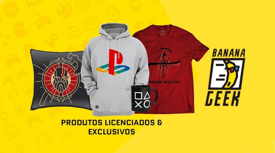 Loja Banana Geek estreia no Brasil com lançamento de nova coleção oficial de PlayStation