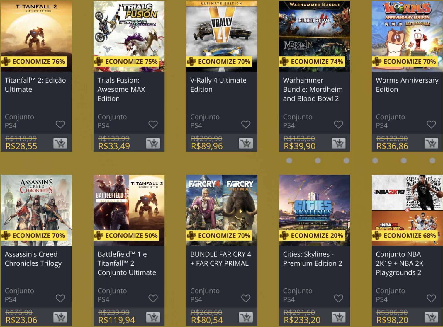 """Sony oferece """"Descontos Duplos"""" em jogos na PS Store; veja 5"""