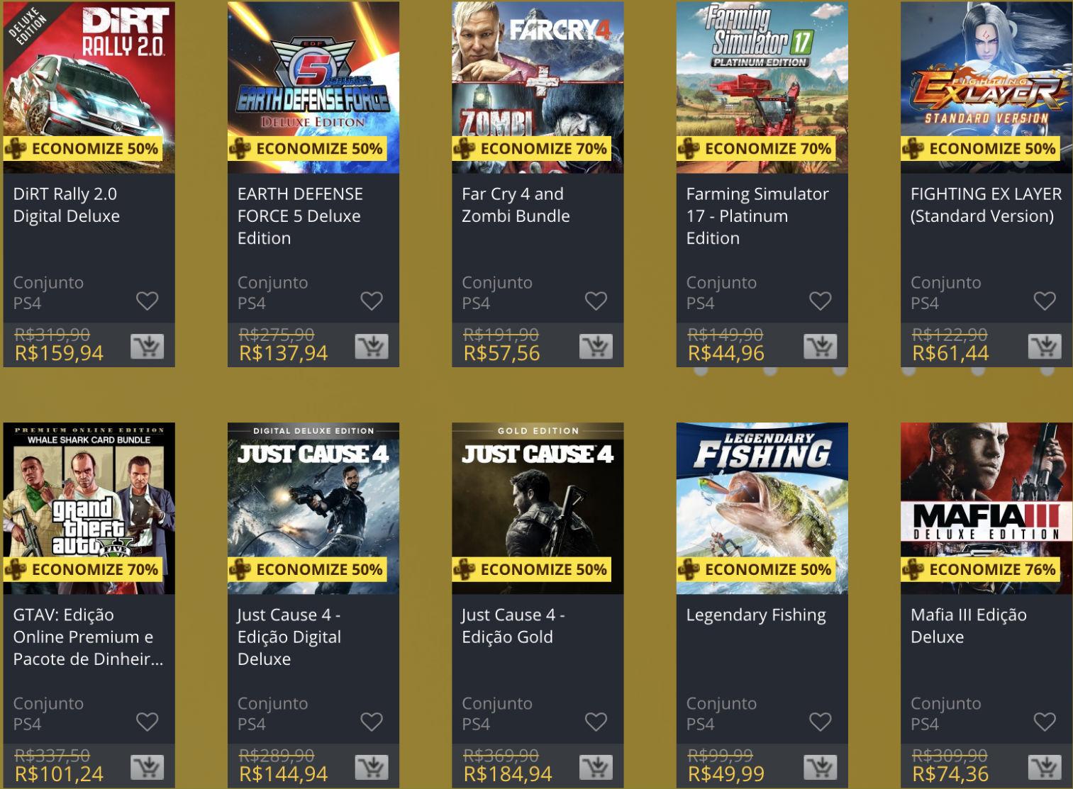 """Sony oferece """"Descontos Duplos"""" em jogos na PS Store; veja 6"""
