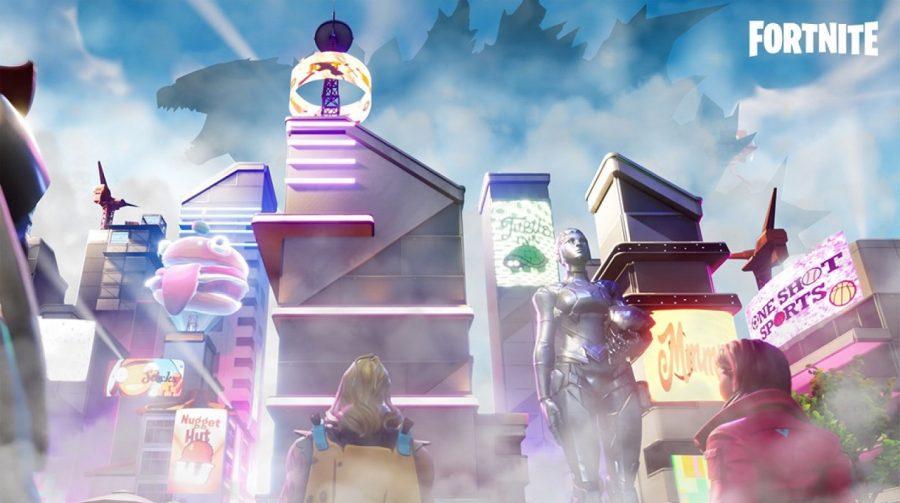 Godzilla em Fortnite? Monstro gigante aparece no mapa do jogo
