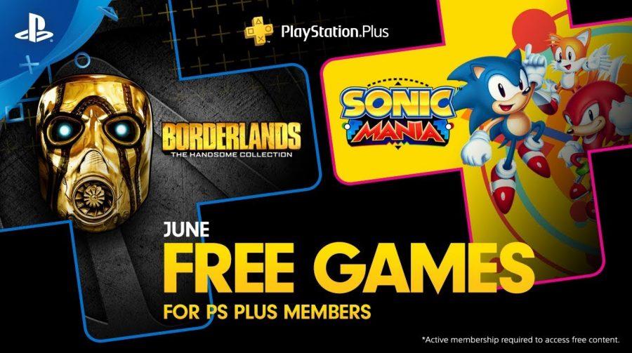 [Oficial] PS Plus de junho trará Sonic Mania e Borderlands: The Handsome Collection