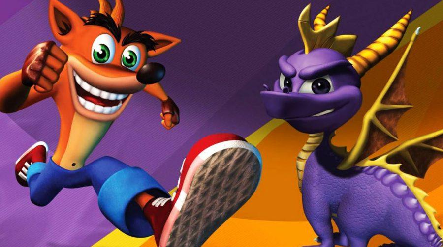 Crash e Spyro são marcas