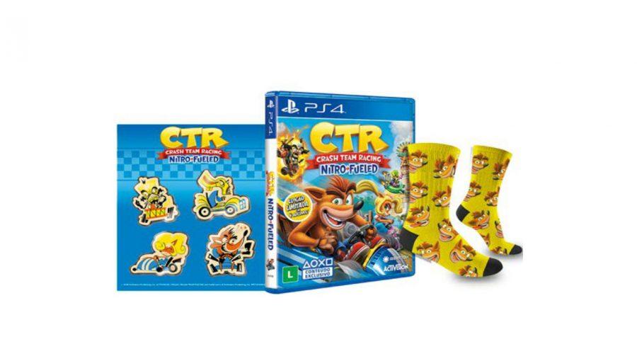 Pré-venda de Crash Team Racing no Brasil oferece meia e adesivos!