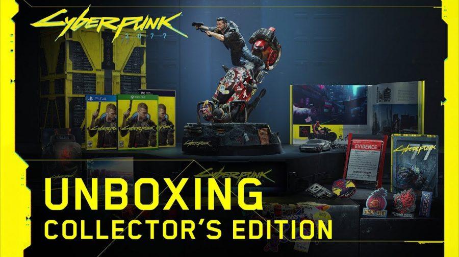 Confira o unboxing da edição de colecionador de Cyberpunk 2077
