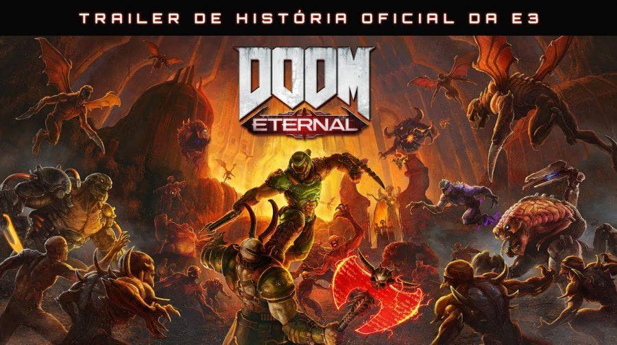 DOOM Eternal recebe vídeos bombásticos na E3; Lançamento em novembro