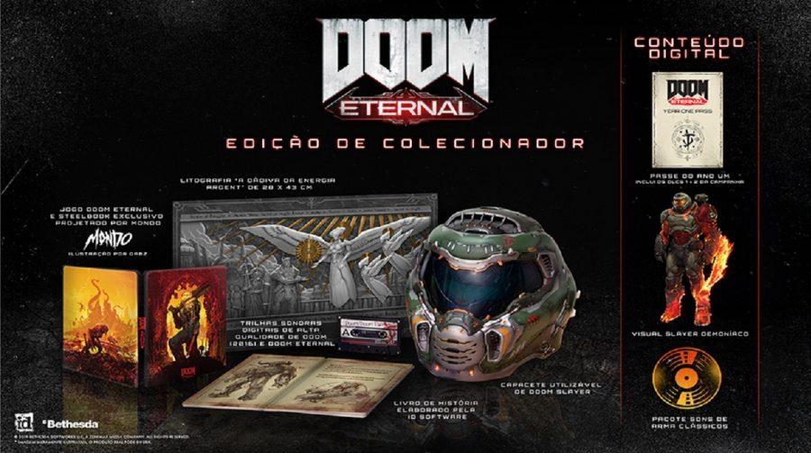 DOOM Eternal: edição de colecionador trará capacete e outros itens; veja