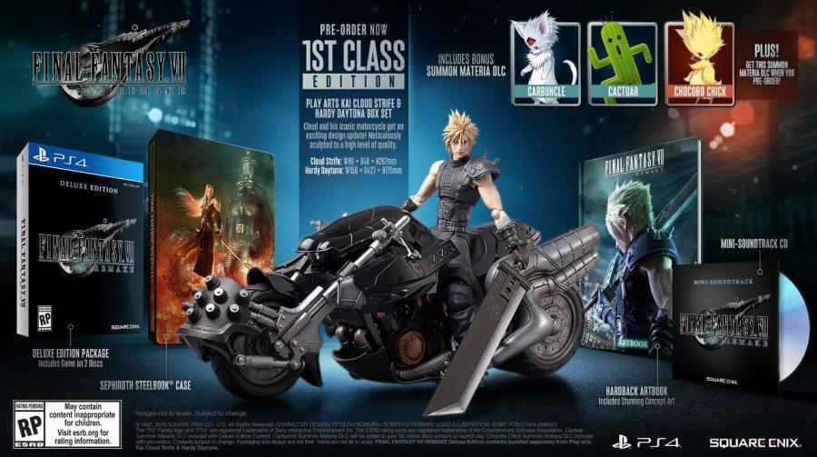Final Fantasy VII Remake: edições físicas impressionantes entram em pré-venda;