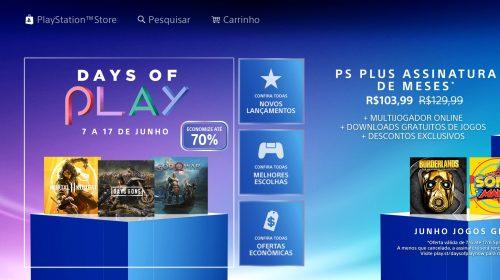 Days of Play no ar! Promoção na PS Store oferece até 70% de descontos