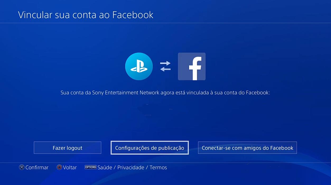 PS4 no Facebook