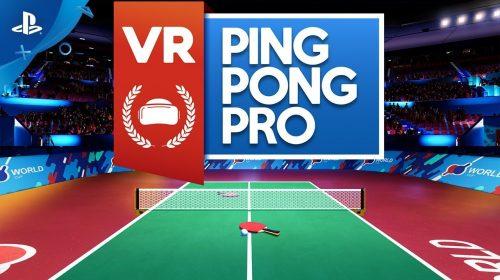 VR Ping Pong Pro é anunciado para PlayStation VR e chega em setembro