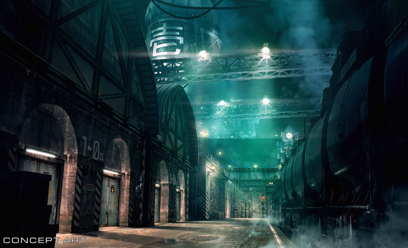 Conceitual arte de Final Fantasy VII Remake