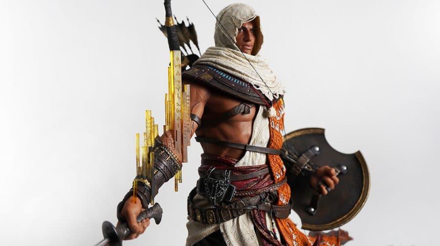 Bayek, de Assassin's Creed Origins, recebe escultura incrível
