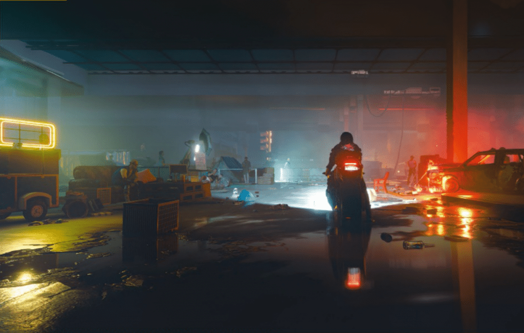 Cyberpunk 2077 terá gráficos lindos