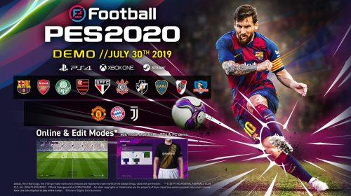 Chegou! DEMO do PES 2020 já está disponível na PS Store do Brasil