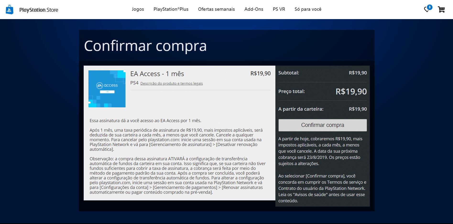 Aprenda como assinar o EA Access no PS4