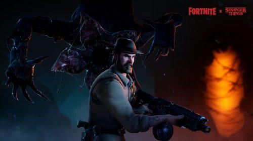 Crossover Fortnite x Stranger Things tem novas skins do Demogorgon e Xerife Hopper