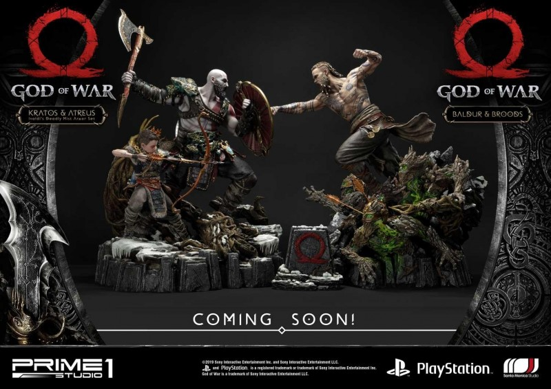 God of War ganhará incrível conjunto de estatuetas de Kratos vs. Baldur 3