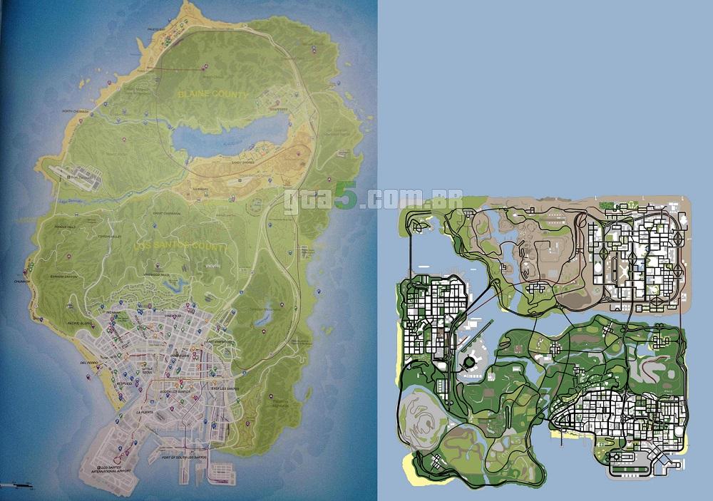 GTA V e GTA San Andreas