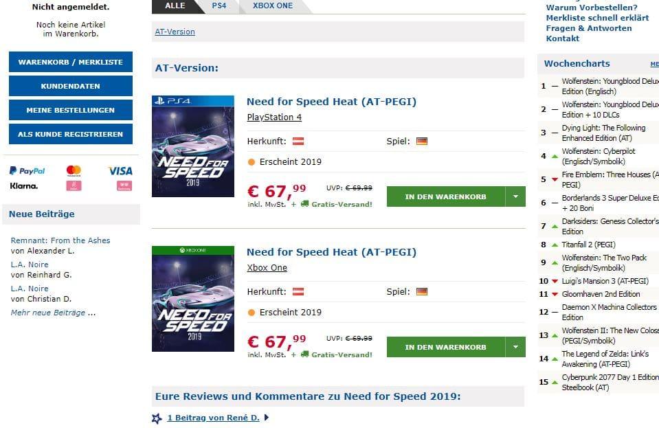 Need for Speed Heat Varejista