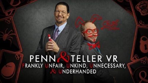 Com truques e magias, Penn and Teller VR chega à PS Store
