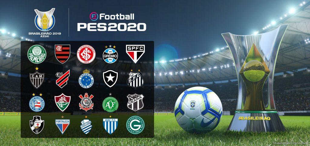 eFootball PES 2020 terá Brasileirão