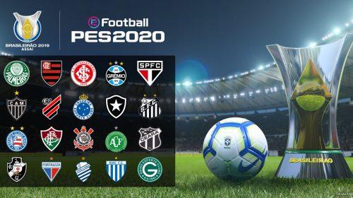 PES 2020 terá parceria com Vasco, Atlético Mineiro exclusivo e série B