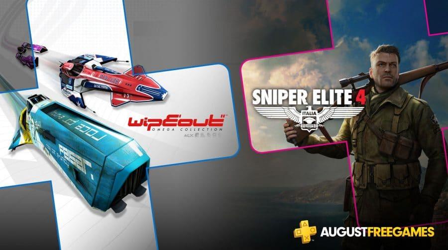 [Oficial] PS Plus de agosto terá Sniper Elite 4 e WipEout Omega Collection