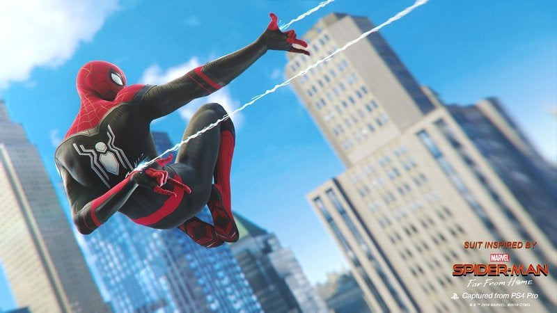 Marvel's Spider-Man receberá trajes de Homem-Aranha: Longe de Casa 1