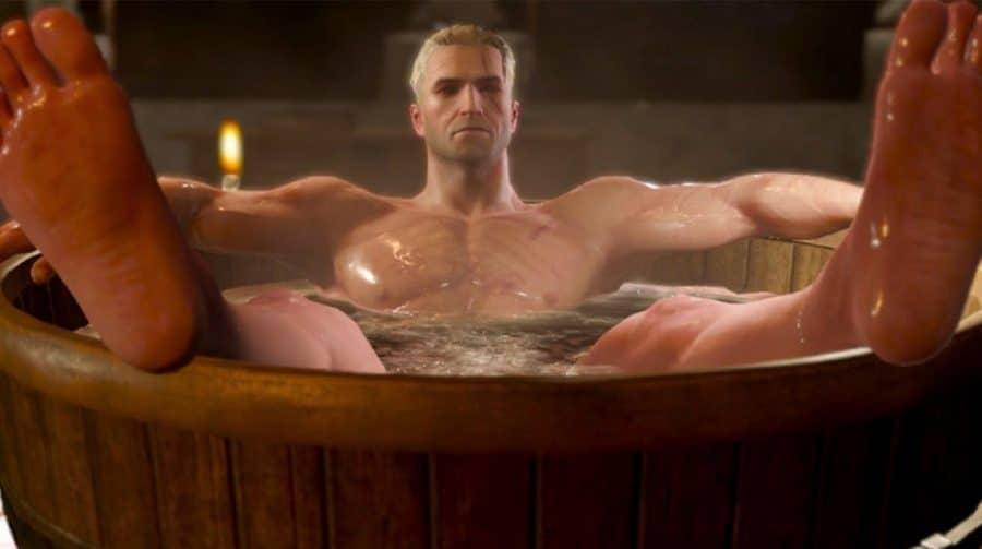 The Witcher da Netflix tem cena da banheira de The Witcher 3