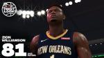 Zion Williamson estará em NBA 2K20
